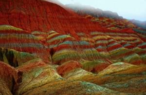 Цветные скалы Чжанъе Данксиа5