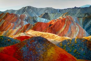 Цветные скалы Чжанъе Данксиа7