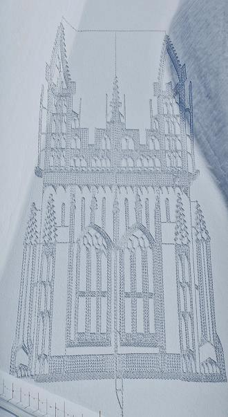 Картины на снегу Саймана Бека