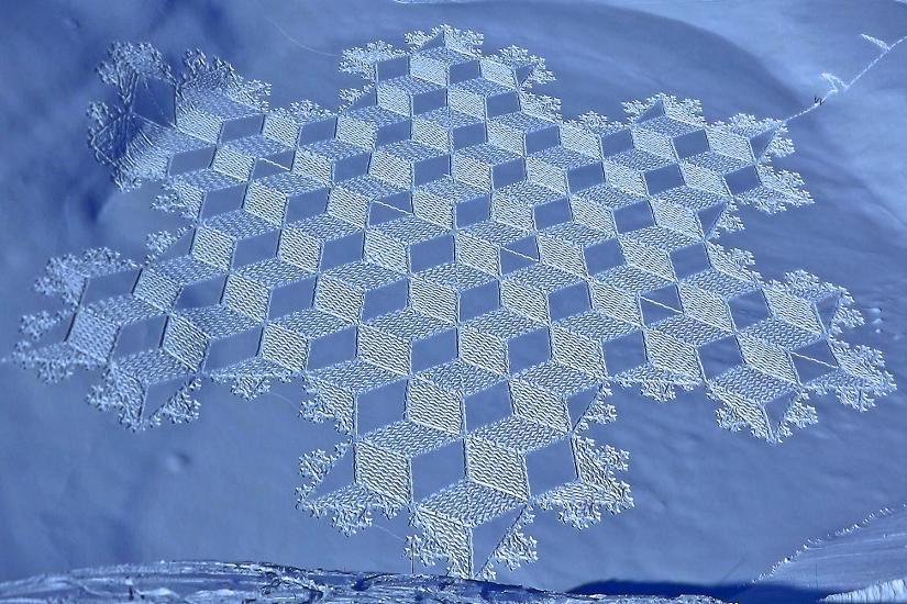 Нереальные узоры на снегу