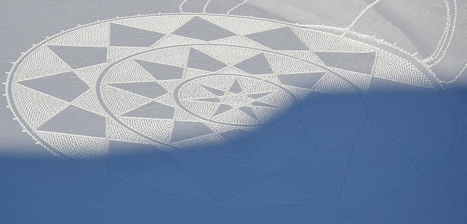 Картины на снегу