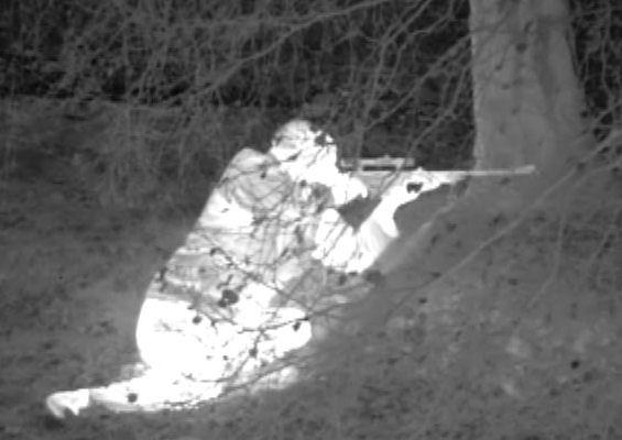 Видимость в ночью солдатский камуфляж