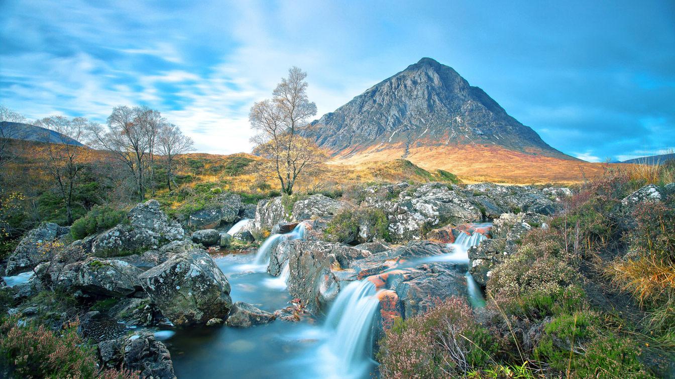Долина Гленко в Шотландии