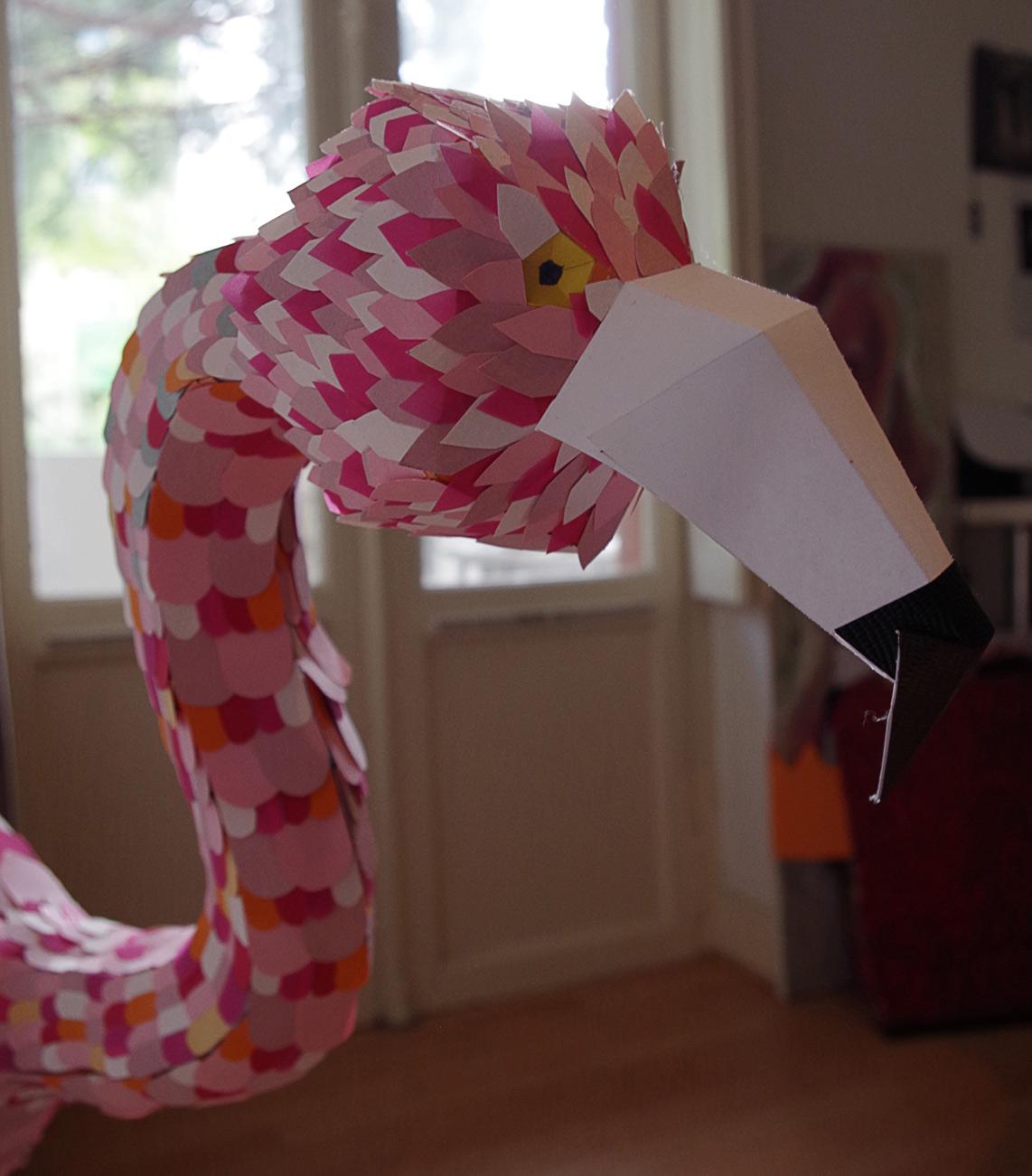 бумажная поделка фламинго своими руками