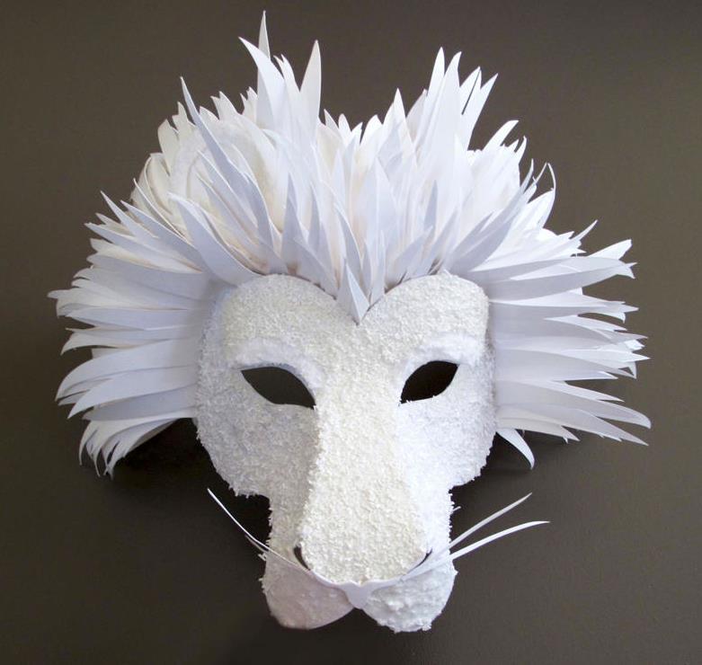 Бумажная маска Льва