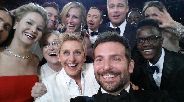 Селфи с церемонии Оскара 2014