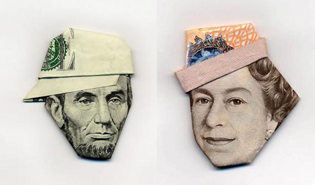 креативные вещи из обычных денег