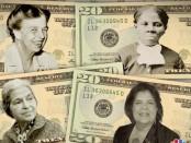 20 долларов с женским лицом