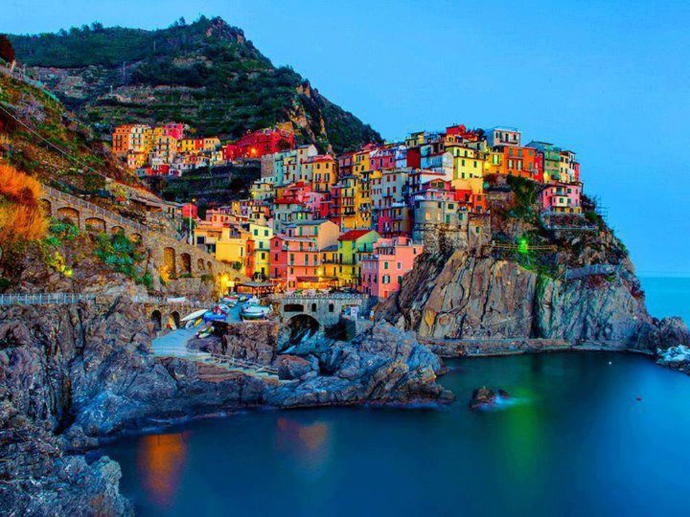 Итальянский городок Manarola