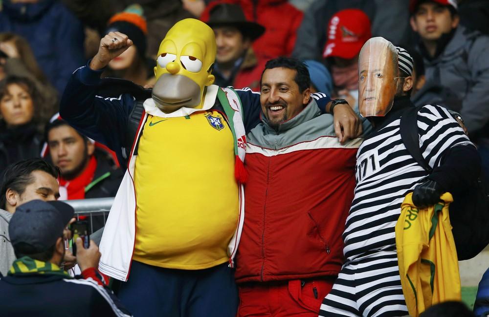 Радостные фаны Copa America 2015