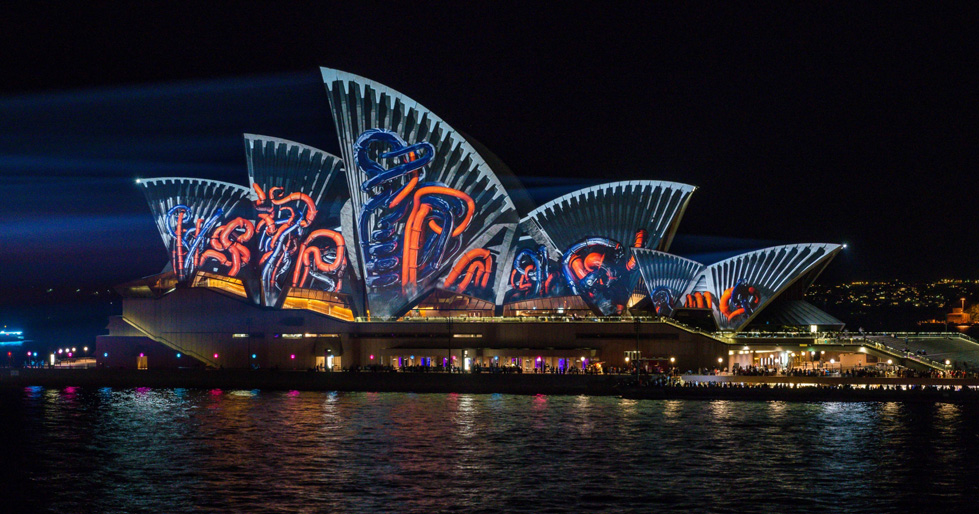 красота световых преображений на Vivid Sydney 2015