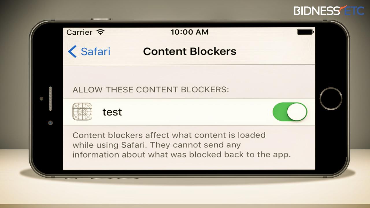 блокировка рекламы от Сафари