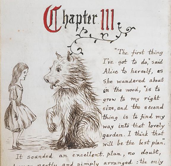 Алиса в стране чудес от автора рукопись