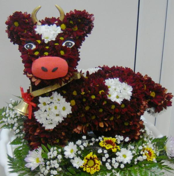 бычек из цветов