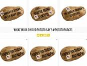 необычные послания на картошке