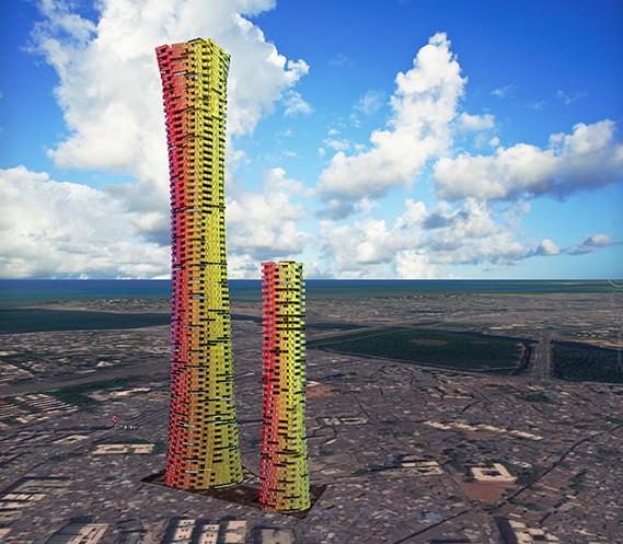 башни из контейнеров в Индии