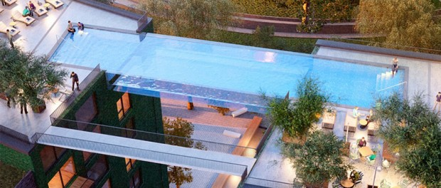 В Лондоне появится парящий бассейн