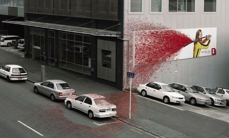 Яркая реклама фильма Убить Билла