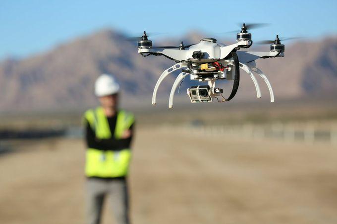 Строительство под управлением дронов