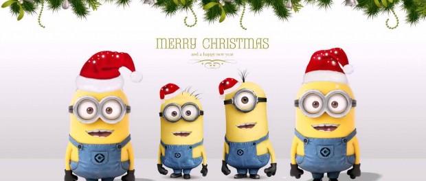 Смешное новогоднее поздравление от миньонов