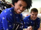 рождественское поздравление от игроков Челси