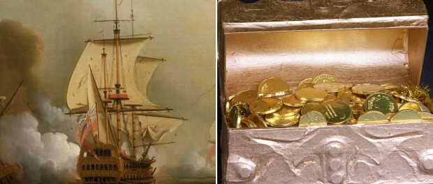 Колумбийцев осчастливили несметными сокровищами на затонувшем галеоне
