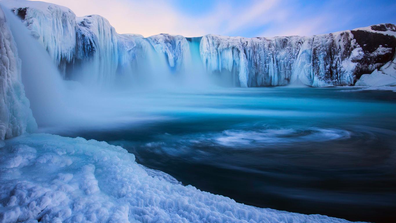 восхитительная снежная Исландия
