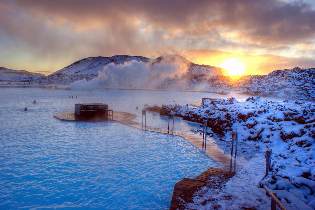 снежная красота в Исландии