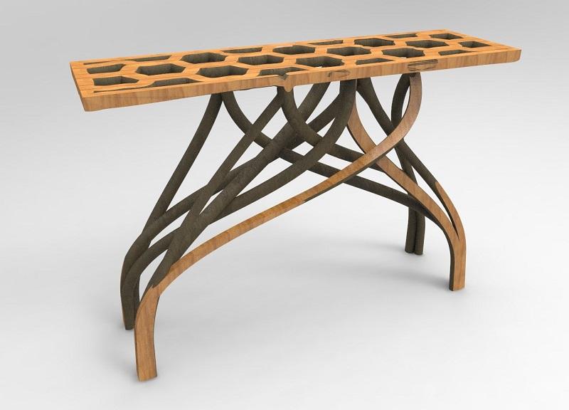 Необычный стол из грядки