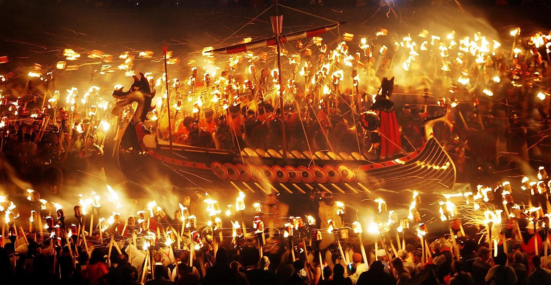 Викинги ярко повеселились в Шотландии