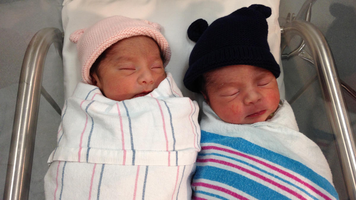 San Diego twin babies born in different years