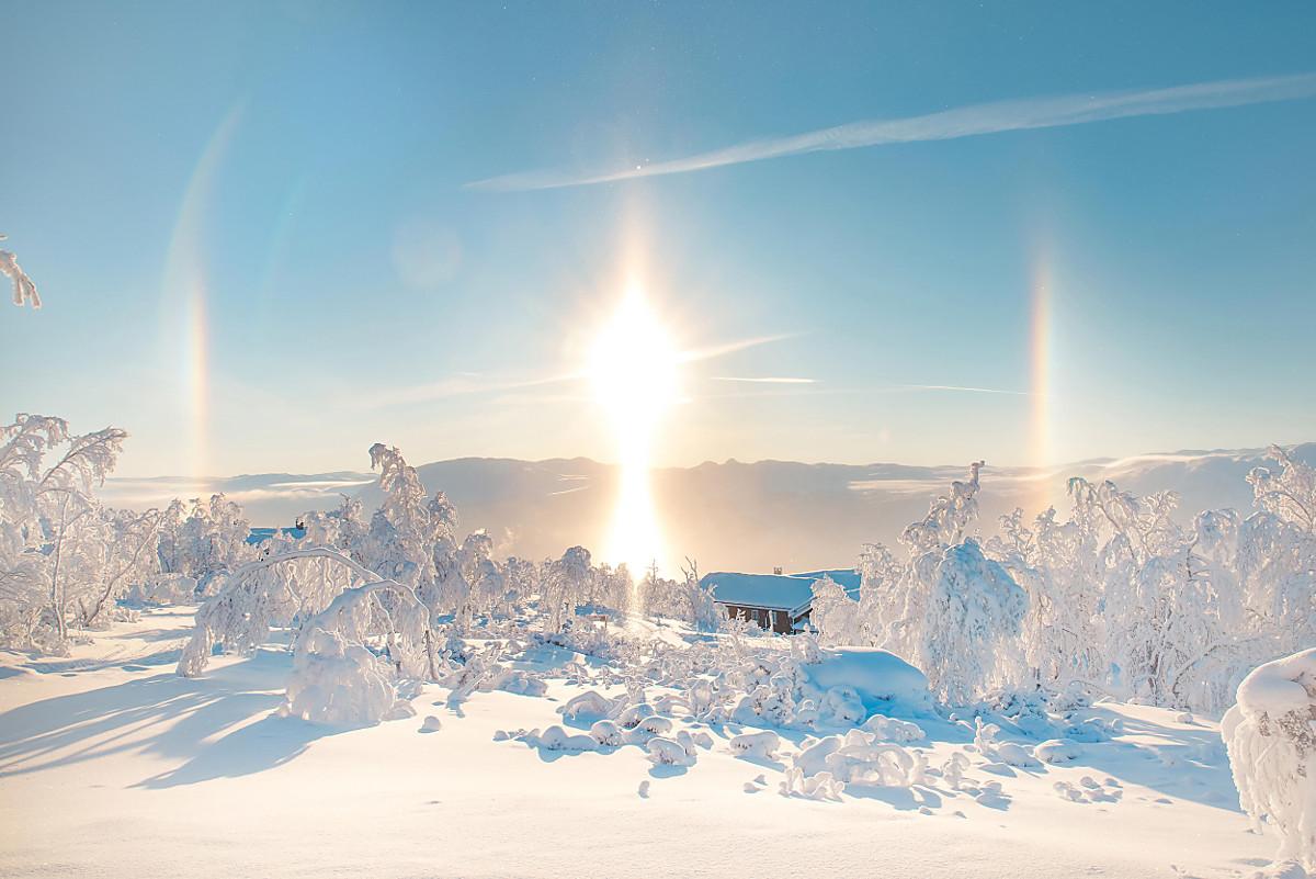 Уникальный оптический феномен - ложное солнце