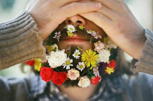 цветочная борода - это модно