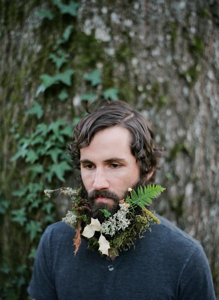 борода из цветов