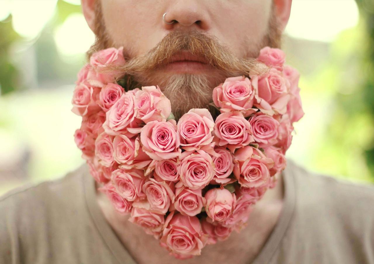 цветочная борода - это круто