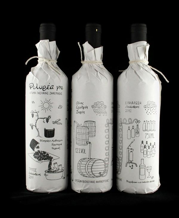 упаковка вина от Кристоса Зафеираадиса