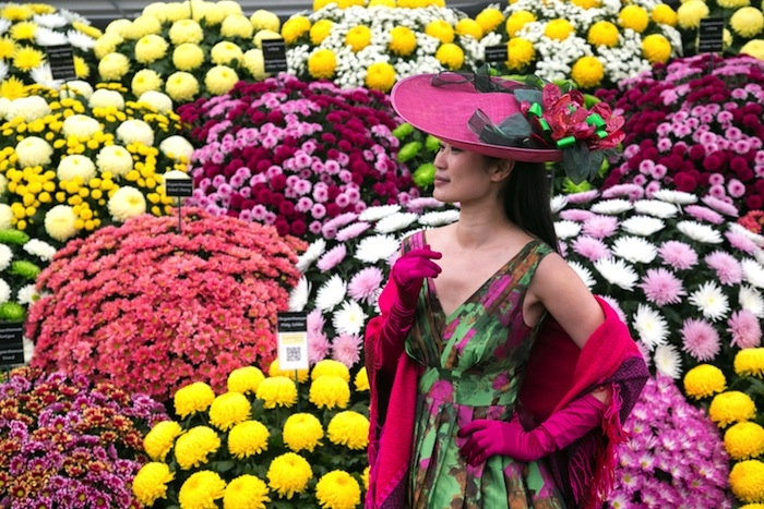 яркое селфи на Chelsea Flower Show 2016