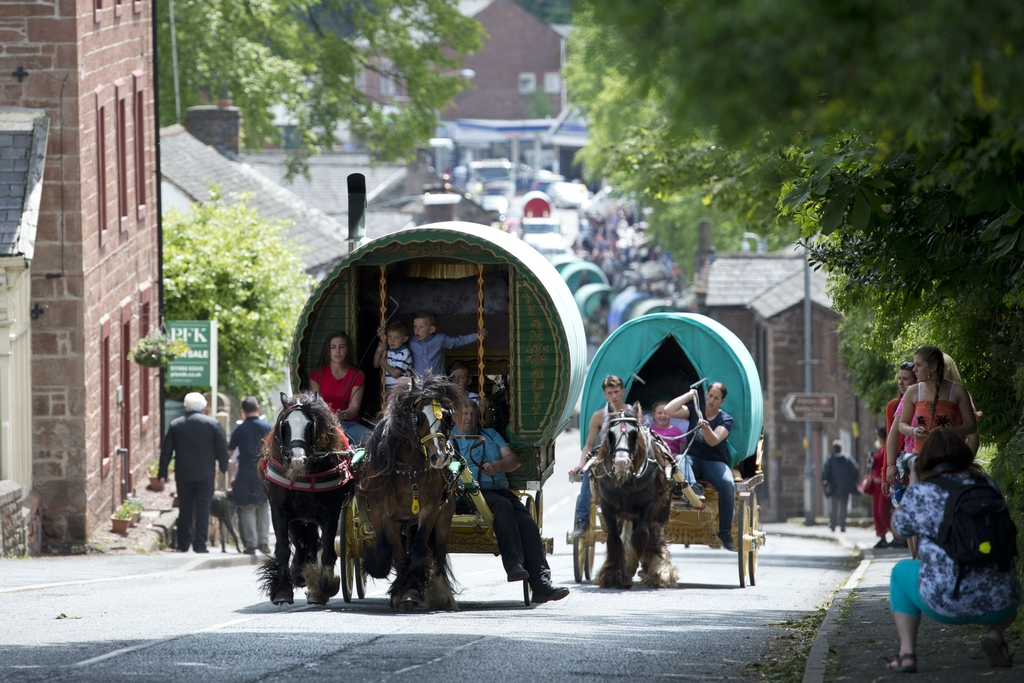 BRITAIN-CULTURE-TRADITION-TRAVELLERS-HORSE-FAIR