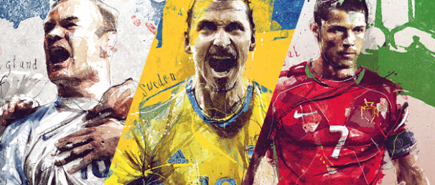 Креативные плакаты футбольных сборных на Евро-2016