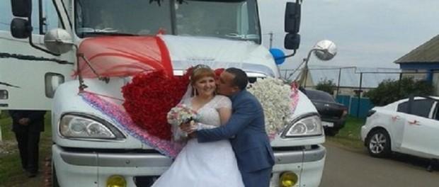 Оригинальный свадебный кортеж покоряет соцсети