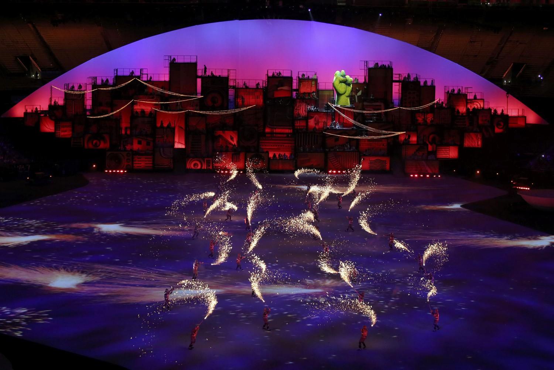 церемония открытия Олимпиады в Рио