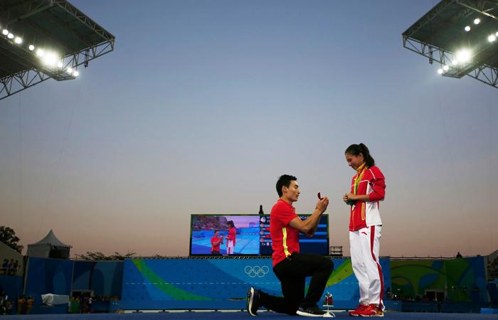 Китайский спортсмен романтик сделал предложение в Рио