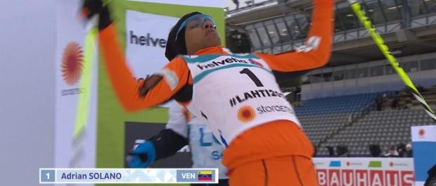 Венесуэльский лыжник впервые вышел на лыжню