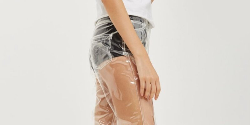 Topshop's clear plastic jeans