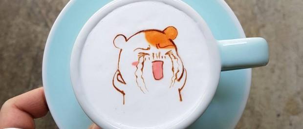 Кофейные рисунки корейского баристы покорили интернет