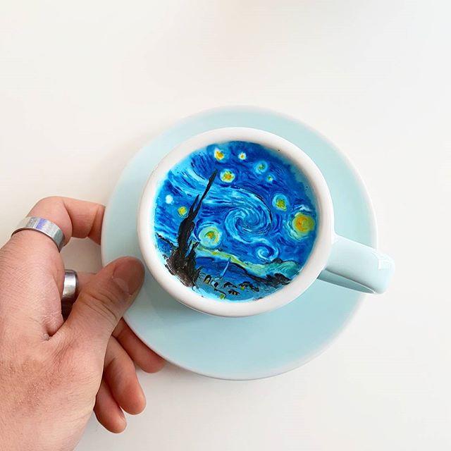 кофейное искусство от Канбина Ли
