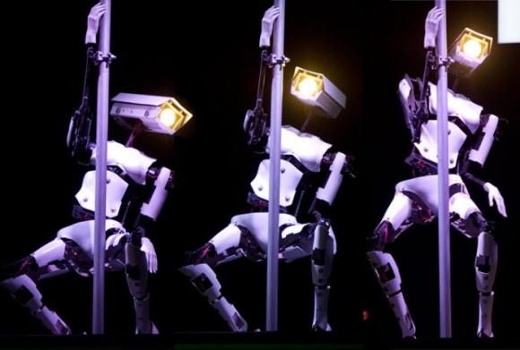 Стриптиз от роботов