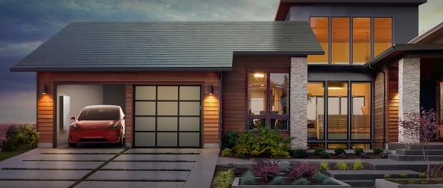 Tesla снабдит дома солнечной кровлей