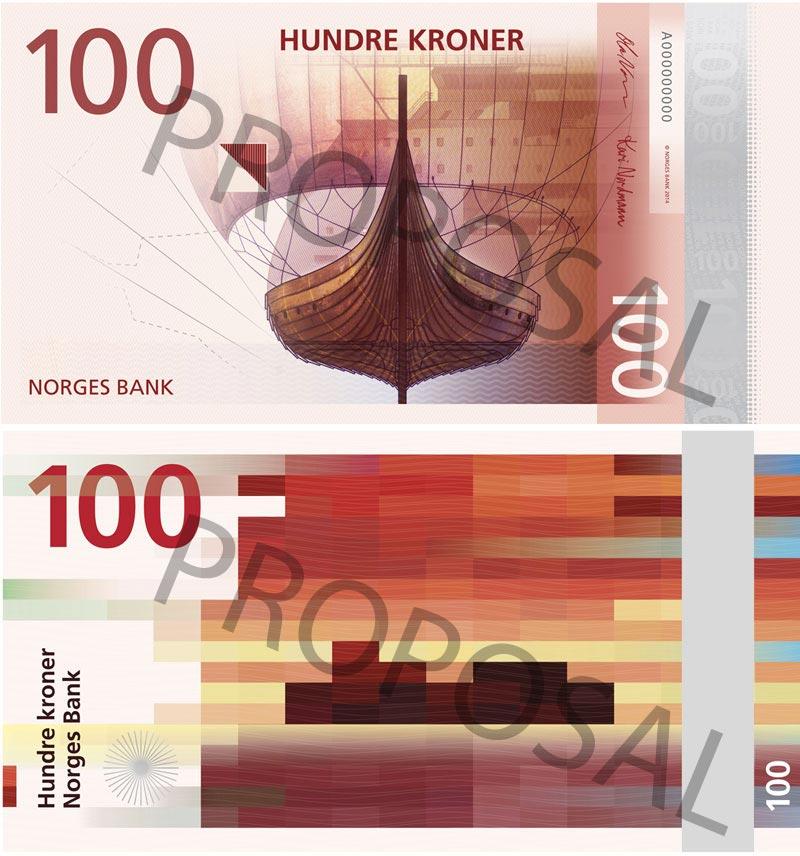 Пиксельная оригинальность норвежских банкнот