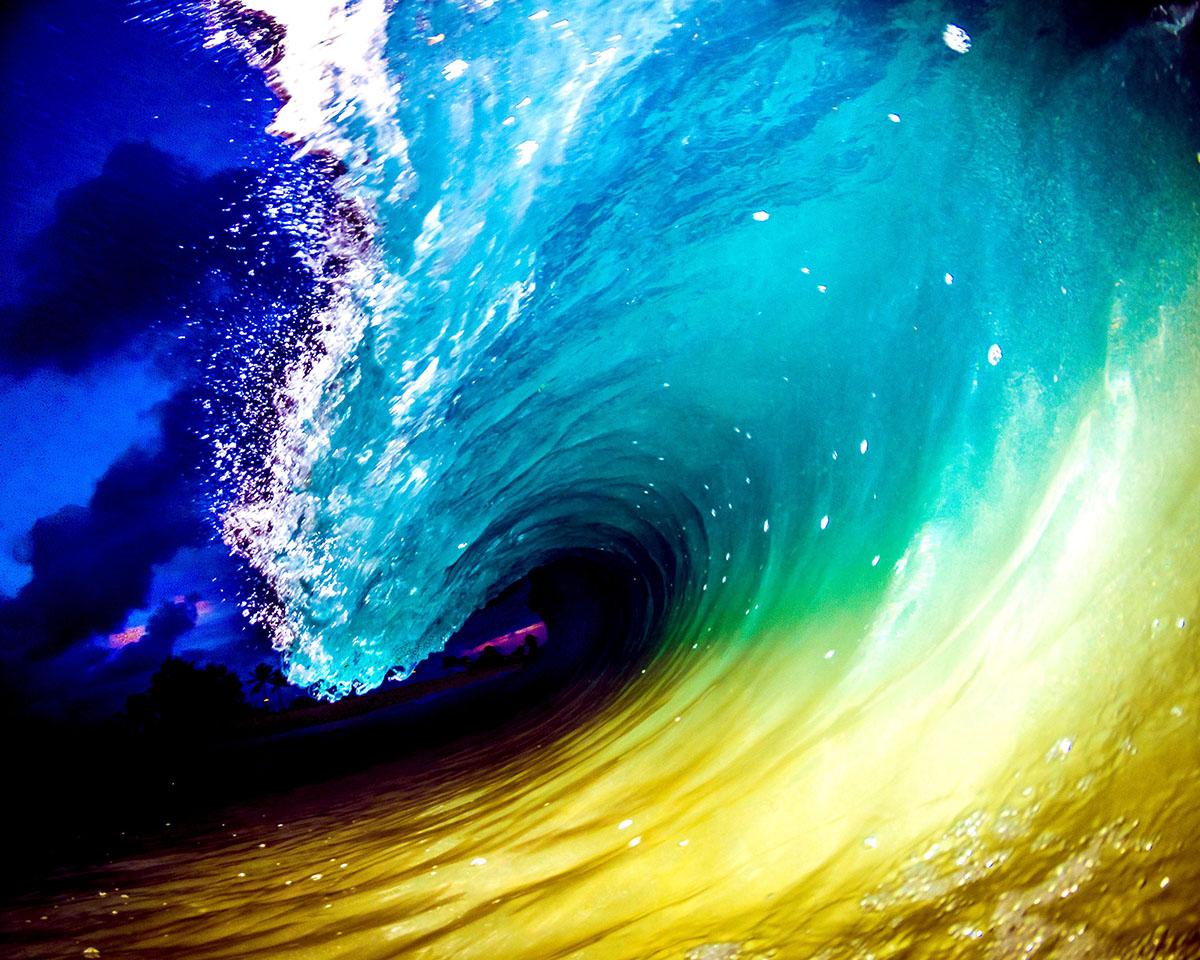 Чарующая красота гавайских волн. Фото: CATERS NEWS AGENCY